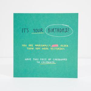 Geburtstagskarte Cardboard