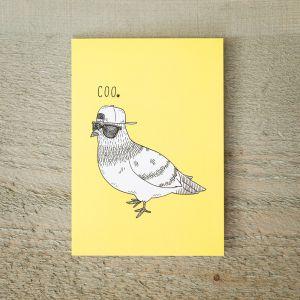 Grußkarte COOle Taube