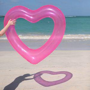 Herz Schwimmreifen in Pink