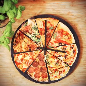 Pizza Wanduhr