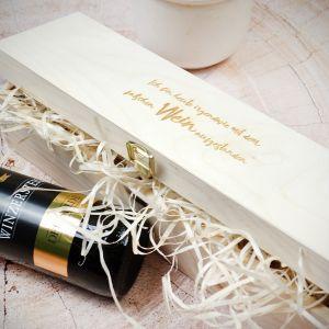 Wein Geschenkekiste aus Holz