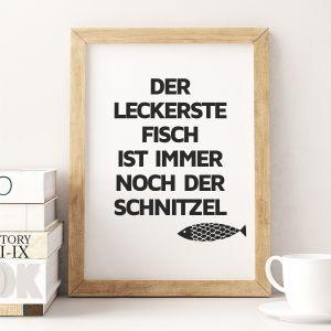 Schnitzel-Fisch Poster