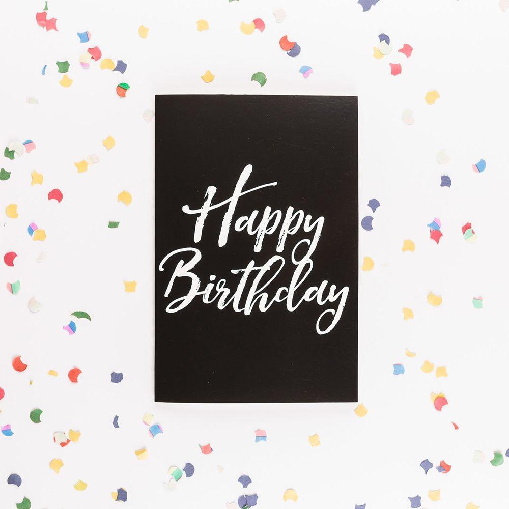 Geburtstag Karte.Die Endlose Geburtstagskarte Mit Glitter