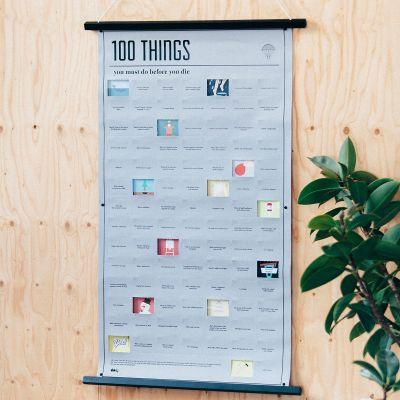 Geschenk für Freund - Poster 100 Dinge, die du in deinem Leben noch machen musst