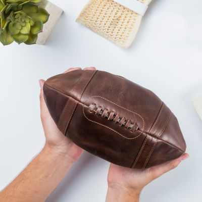 Geschenk für Freund - Leder-Kulturbeutel American Football