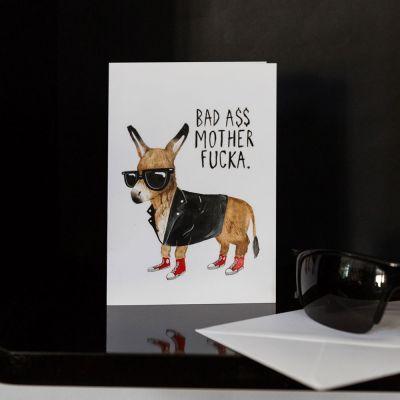 Geburtstagsgeschenk zum 30. - Grußkarte Bad Ass