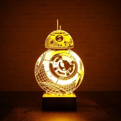Film & Serien - Star Wars BB-8 Leuchte mit 3D-Effekt
