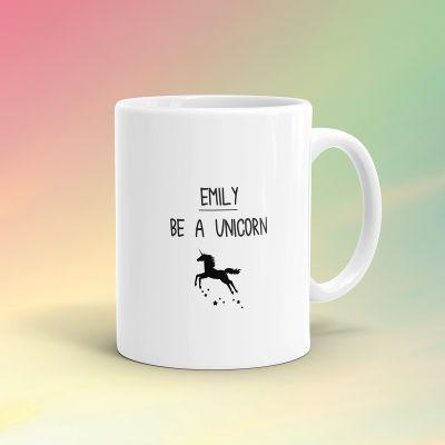 Personalisierte Geschenke - Personalisierbare Einhorn-Tasse