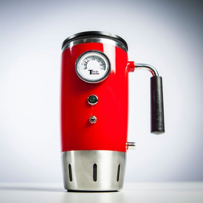 Geschenk zum Einzug - Beheizter Retro Trinkbecher mit Temperaturanzeige