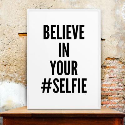 Geschenk für Freund - Poster Selfie by MottosPrint