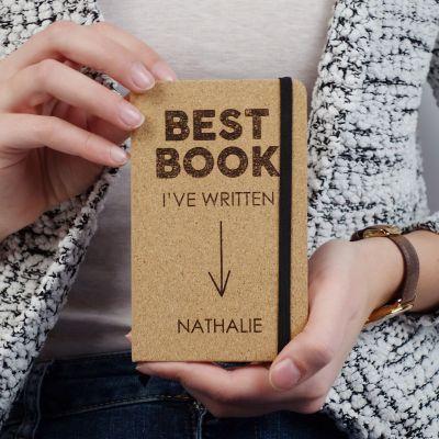 Exklusiv bei uns - Personalisierbares Kork Notizbuch - Best Book