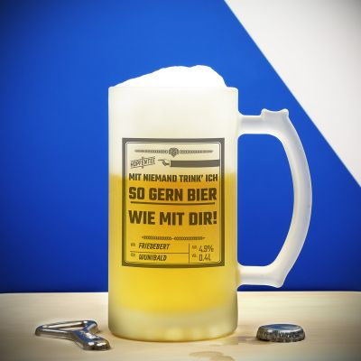 Geschenk zum Abschluss - Personalisierbarer Bierkrug