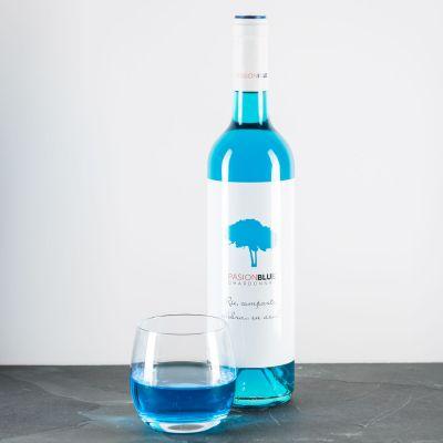 Weihnachtsgeschenke für Eltern - Chardonnay in Blau