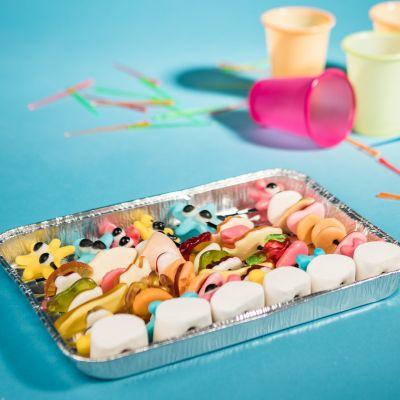 Süßigkeiten - Fruchtgummi Grillspieße
