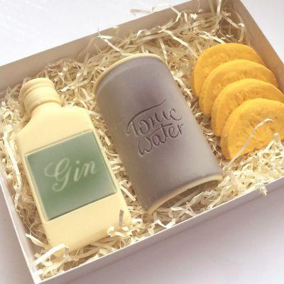 Geburtstagsgeschenk zum 30. - Gin Tonic Notfall-Set aus Schokolade
