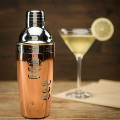 Bar Accessoires - Design Cocktail Shaker mit Rezeptauswahl