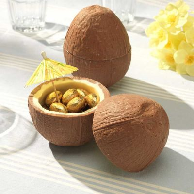 Ostergeschenke - Schoko-Kokosnuss mit Schoko-Mini-Eiern