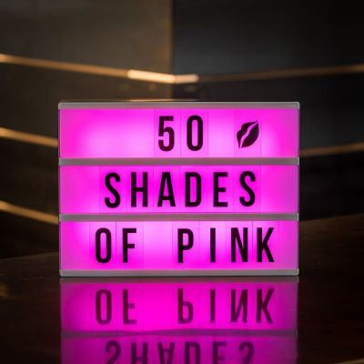 Beleuchtung - Tischleuchte Kino Leuchtreklame mit Farbwechsel
