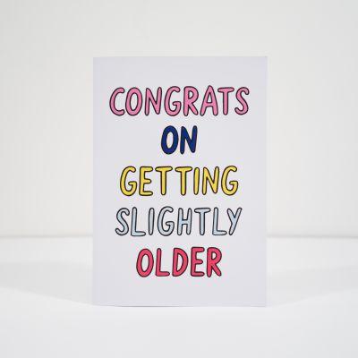 Karten - Geburtstagskarte Slightly Older