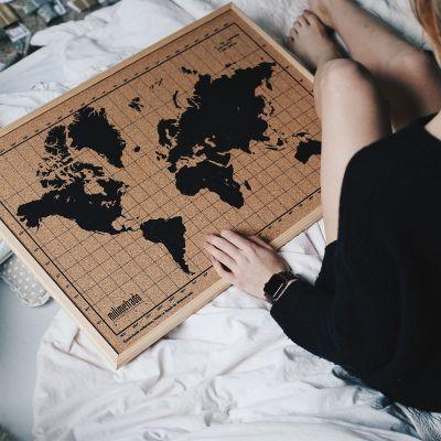 Romantische Geschenke - Kork-Pinnwand Weltkarte