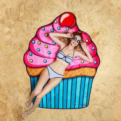 Geschenk zum Einzug - Cupcake Strandtuch