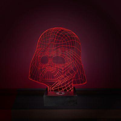 Film & Serien - Star Wars Darth Vader Leuchte mit 3D Effekt