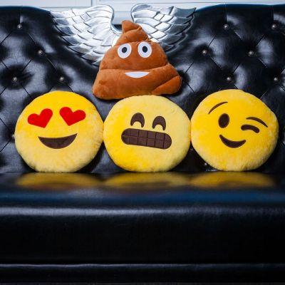 Weihnachtsgeschenke für Eltern - Emoji Kissen