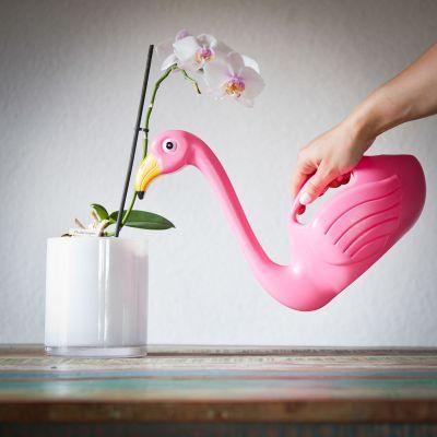 Geschenk zum Einzug - Flamingo Gießkanne