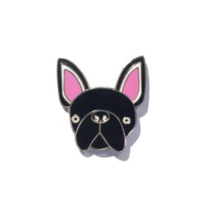 Kleidung & Accessoires - Französische Bulldogge Anstecknadel
