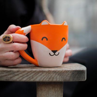 Kaffee und Tee - Fuchs Tasse