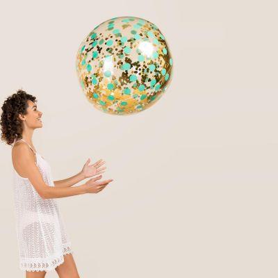 Strand & Wasser - Riesen Glitzer Strandball