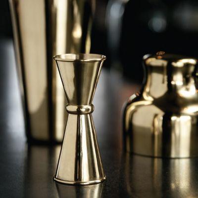 Bar Accessoires - Doppel-Messbecher in Gold