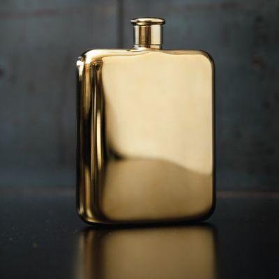 Bar Accessoires - Goldener Flachmann