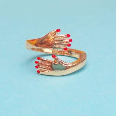 Accessoires - Umarmungs-Ring aus Gold