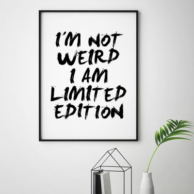 Poster - Poster I Am Limited Edition by MottosPrint