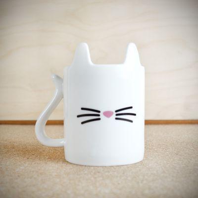 Tassen & Gläser - Tierischer Kaffeebecher Katze
