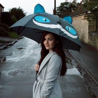 Kleidung & Accessoires - Katzen Regenschirm