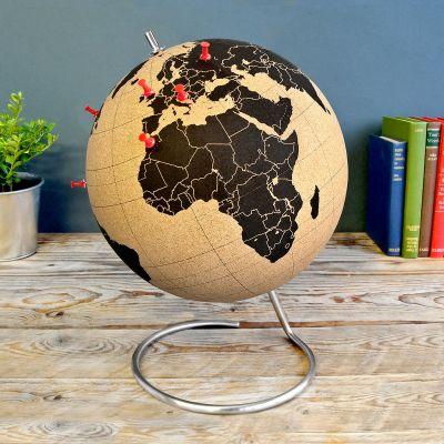 Geschenk für Freund - Kork Globus