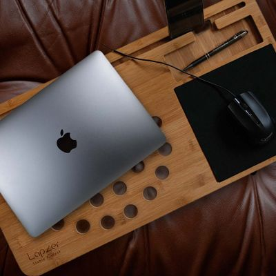 Geschenkefinder - Laptop Unterlage aus Holz