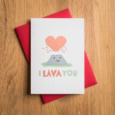 Romantische Geschenke - Valentinstagskarte I Lava You