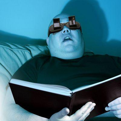 Kleidung & Accessoires - Winkelbrille zum Lesen im Liegen