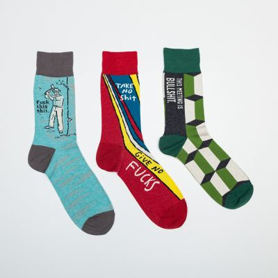Weihnachtsgeschenke für Papa - Männer-Socken mit markigen Sprüchen