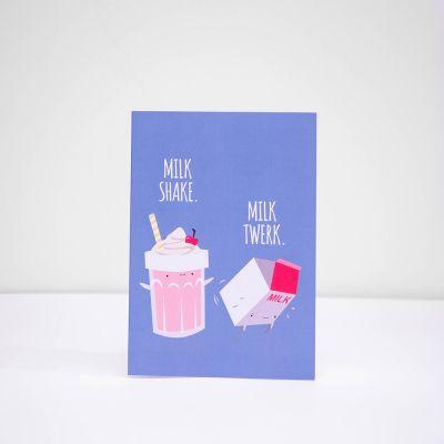 Karten - Grußkarte Milk Shake Milk Twerk