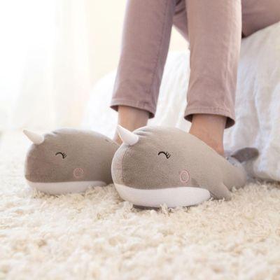 Homewear - Beheizbare Wal Hausschuhe