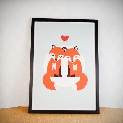 Weihnachtsgeschenke für Eltern - Personalisierbares Fuchs Poster