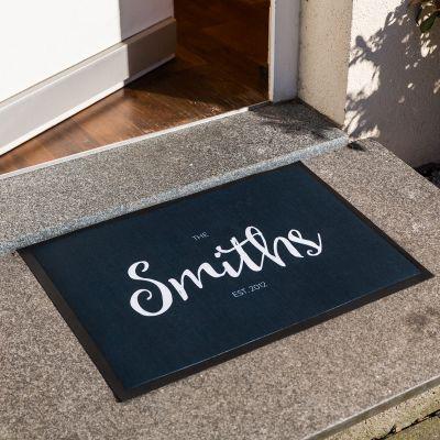 Weihnachtsgeschenke für Eltern - Personalisierbare Fußmatte