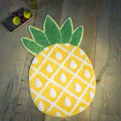 Geschenk zum Einzug - Ananas Badezimmerteppich