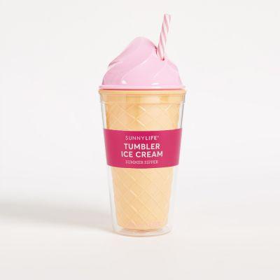 Sommer - Eiscreme Trinkbecher in Pink