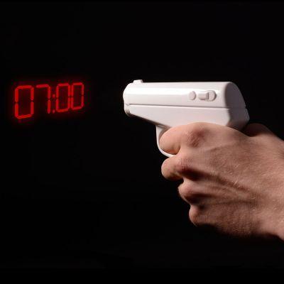Uhren - Pistolen Projektions-Wecker