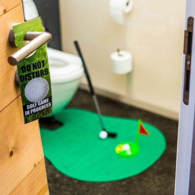 Geschenke für Papa - Das ultimative Golfset für die Toilette